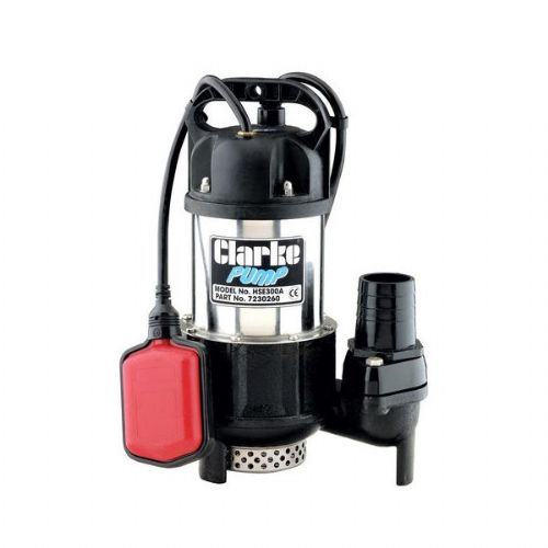 "Clarke HSE300A 2"" H/Duty Submersible Pump 300 Litres/Min 240V~50Hz"